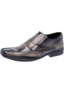 Sapato Social Em Couro Cr Shoes Chumbo