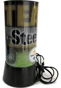 Luminária Rotativa 30Cm 120V Nfl Pittsburgh Steelers - Unissex-Preto
