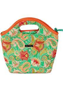 Bolsa Handbag Tecido Mão Forro Impermeável Prática Verde