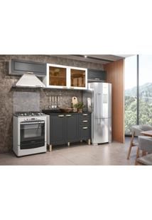 Cozinha Compacta Nevada I 6 Pt 3 Gv Grafite E Branca