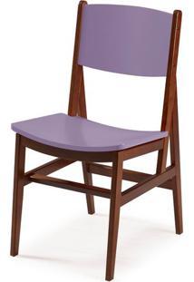 Cadeira Dumon Cor Cacau Com Lilas - 30793 Sun House