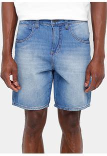 Bermuda Jeans Sommer Curta Stone Reta Masculina - Masculino-Jeans