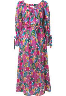 La Doublej Vestido Estampado - Rosa