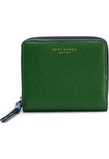 Tory Burch Carteira Color Block - Verde