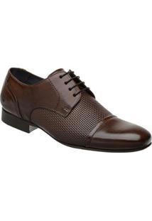 Sapato Social Malbork Em Couro Com Cadarço 60435 - Masculino-Marrom