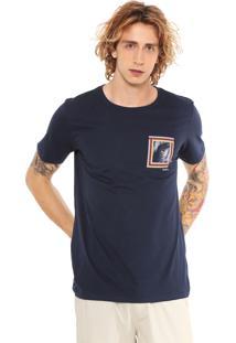 Camiseta Redley Silk Palmeiron Azul-Marinho