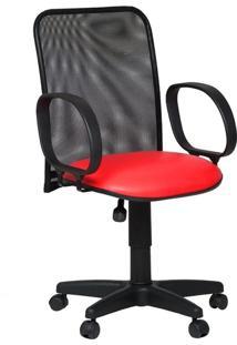Cadeira Diretor Tela Giratória Corsa Corano Vermelho