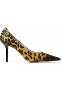 Jimmy Choo Scarpin Love Com Salto 85Mm - Marrom