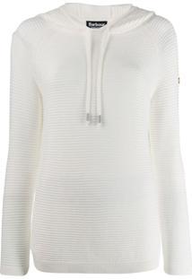 Barbour Camiseta Canelada - Branco