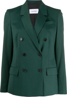 Calvin Klein Classic Double-Breasted Blazer - Verde