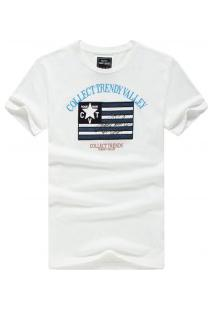 Camiseta Masculina Collect Trendy Manga Curta - Branco