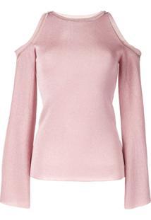 Peter Pilotto Cold Shoulder Knit Top - Rosa