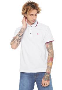 Camisa Polo John John Reta Lines Branca