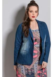 414d755cce4652 Blazer Jeans Plus Size