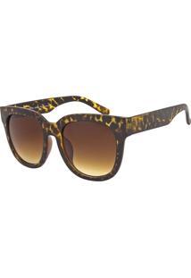 Óculos De Sol Ray Flector 283Co Onça Escuro