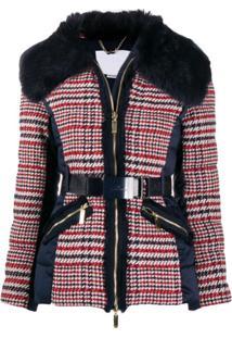 Elisabetta Franchi Tweed Contrast Jacket - Azul