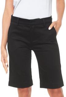 Bermuda Sarja Calvin Klein Jeans Chino Alfaiataria Preta