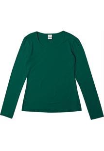 Blusa Verde Em Viscose