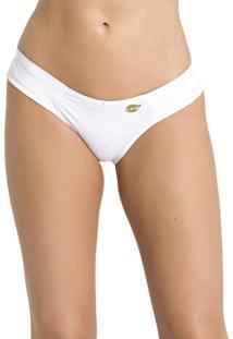 Tanga Recco De Lycra Branco - Branco - Feminino - Dafiti