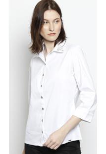 Camisa Com Termocolantes - Branca & Pretascalon