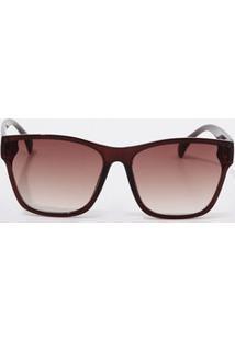 da154d461 Marisa. Óculos De Sol Feminino Marrom De Sol Quadrado Marisa