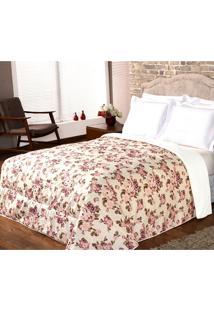 Kit Edredom Casal Queen Dôda + Porta Travesseiros Encanto Floral