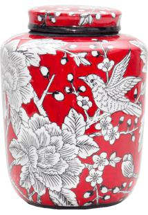 Vaso De Porcelana Hummingbird Ii
