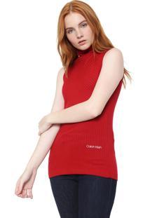Regata Calvin Klein Gola Alta Vermelha