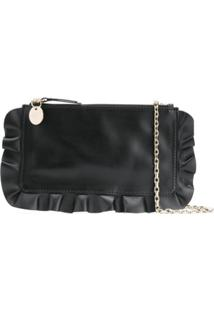 Red Valentino Pochete Red(V) Rock Ruffles - Preto