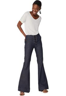 b03f244899 AMARO. Calça Jeans Flare Amarração