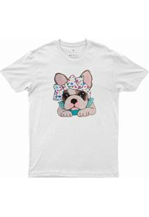T-Shirt Feminina Auau Dv005 Branca