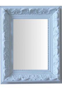 Espelho Moldura Rococó Raso 16137 Branco Art Shop