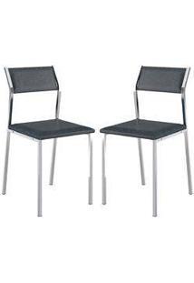 Cadeira 1709 Cromada 02 Unidades Jeans Carraro