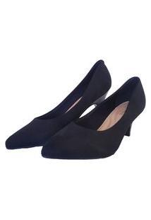 Sapato Feminino Scarpin Preto Beira Rio Multicolorido