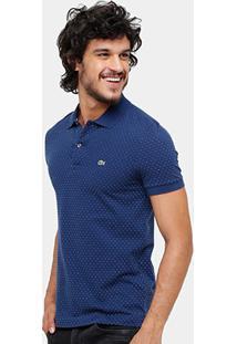 Camisa Polo Lacoste Piquet Full Print Fancy Masculina - Masculino