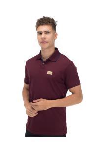 Camisa Polo Ecko Piquet Fash Basic E546A - Masculina - Vinho