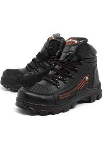 Bota Bell-Boots Adventure/Motoqueiro 2050 - Preto/Vermelho