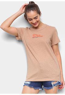 Camiseta Colcci Earth Feminina - Feminino-Bege+Off White