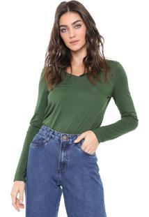 Blusa Dudalina Essentials Verde