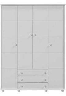 Guarda Roupa 4 Portas Fratelli Branco Acetinado - Móveis Matic