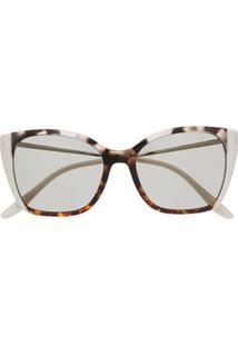 Prada Eyewear Óculos De Sol Gatinho Com Efeito Tartaruga - Marrom