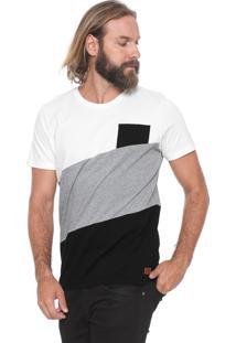 Camiseta Colcci Com Bolso Off-White/Preta