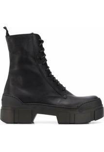 Vic Matie Ankle Boot Com Cadarço - Preto