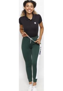 Polo Lisa Com Fps 50+®- Preta & Branca- Filafila