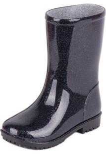 Bota World Colors Galocha - Feminino-Preto