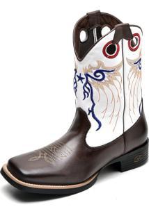 815f5977e3c ... Bota Country Bico Quadrado Top Franca Shoes Cafe   Branco
