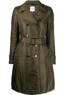 Aspesi Trench Coat Com Cinto - Verde