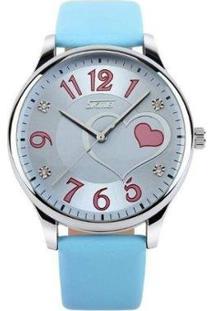 Relógio Skmei Analógico Feminino - Feminino-Azul Claro