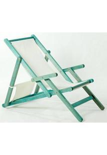 Cadeira Dobrável Com Braços Opi Tec.01.237 Azul Mão E Formão
