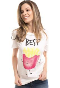 Camiseta Osmoze Daniela Cristina Best Friends Off - Feminino-Branco